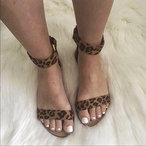 Shoes - 2 left!!  Leopard Vegan Suede Flats